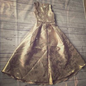 Girls formal gold dress size 8